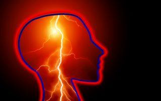 Stroke or seizure in the brain
