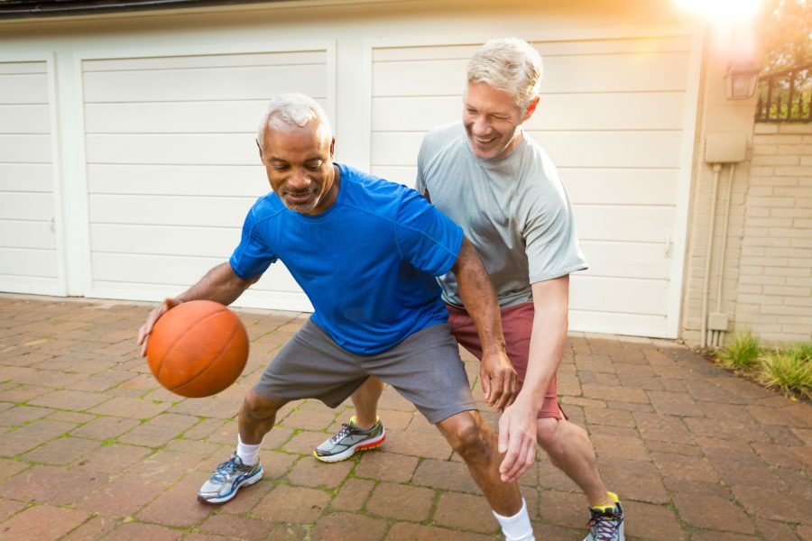 More Metastatic Prostate Cancers Found After Change In Screening Guidelines photo of middle-age men playing basketball
